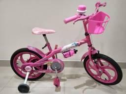 Título do anúncio: Bicicleta Caloi da Barbie aro 16 em bom estado