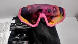 Título do anúncio: Oculos Oakley Jacket 3 lentes Diurna a Preta Polarizada