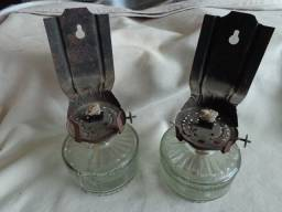 Título do anúncio:  lamparina lampião antigo em vidro tatulli