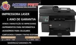 impressora laser hp multifuncional m1212 rede