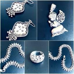 Kit 5 peças de Prata de Bali - Alta Qualidade