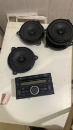 Rádio painel nissan versa