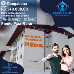 Excelente Apartamento em Mangabeira IV, com área de Lazer