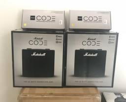 Cubo de guitarra Marshall Code 25 Novo com foot