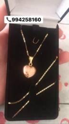 Cordão e pingente em ouro 18 Pandora