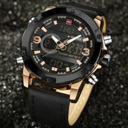 Relógio masculino original Naviforce super premium