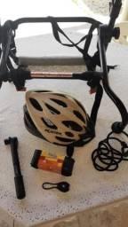 Venda bicicleta com equipamentos