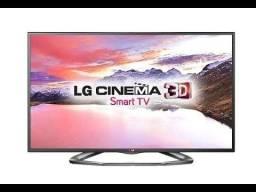 Smart TV LG 42 polegadas 3D, bem conservada com oculos 3D
