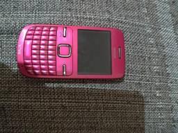 Nokia C3 modelo Rose desbloqueado. Leia o anúncio