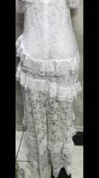 Vestido renda Branco, lindo, Amaro, tamanho 42
