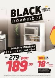Black Friday!!! !Armário Multiuso para Forno e Micro-ondas Branco Brilho