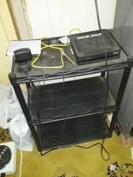 Mesa de plástico usada cor preto