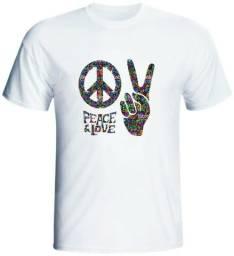 Camisetas Paz e Amor