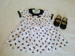 Vestido novo (Tam. 3 anos) + sapatilha