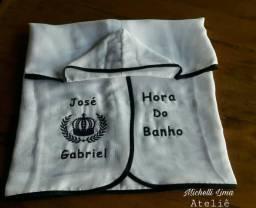 Toalha Fralda de Banho bordada
