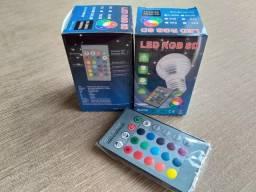 Lâmpadas Led Rgb Novas na caixa com controle remoto