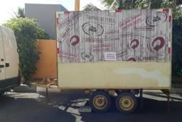 Reboque para food truck, lanchonete ou palco para show
