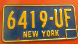 Placa original de New York( Vintage)