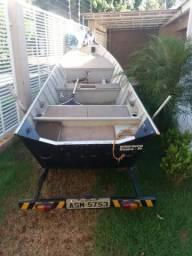 Barco carreta e motor - 2010