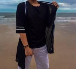Camisa aberta transparente (Kimono/casaco)