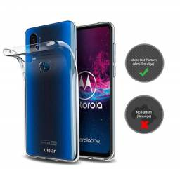 Capa, Capinha Transparente Para Motorola Moto One Apction