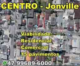 Terreno, Residencial ou Comercial, 1006 m², Centro de Joinville