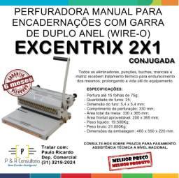 Perfuradora para Garra Duplo Anel (Wire-o) Excentrix Conjugada 2x1