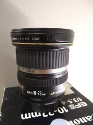 Lente Canon semi-novo 10-22mm f/3.5-4.5 USM