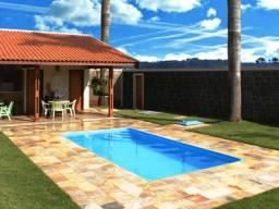 HM Promoção piscina de fibra 5,60x2,90m alt 1,10m