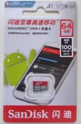 Cartao de Memoria Micro SD SanDisk Ultra 64gb Classe 10