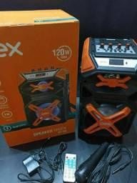 Caixa De Som 120 W rms com Microfone  PROMOÇÃO