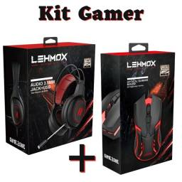 Título do anúncio: Kit Mouse Gamer e Fone Headset Gamer USB Led PC Notebook<br>