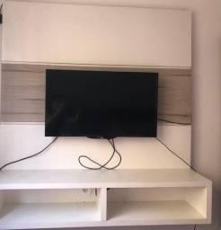 Painel de TV + Cabeceira Cama Box Casal