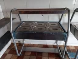 Carro buffet self service quente