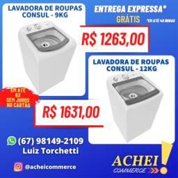 Título do anúncio: Lavadora de Roupas _ 9 _ 11 _ 12 _ e 16kg _ Cesto de Inox _ Novo _ NF
