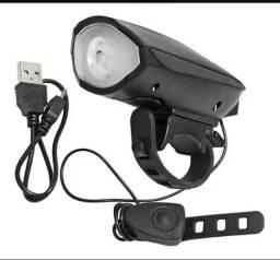 Título do anúncio: (Frete Grátis) Farol Lanterna Led Bike Luz C/ Buzina Bicicleta