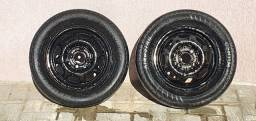02 Rodas Ferro Aro 13 VW 4x100