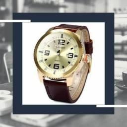 Relógio Masculino Curren Original Dourado (Novo)