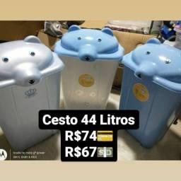 Título do anúncio: cesto de roupa 44 litros