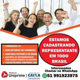 Estamos Cadastrando Representantes de Consórcios em todo Brasil