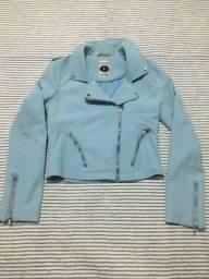Jaqueta corte modelo couro