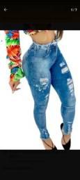 Título do anúncio: Calsa jeans feminina cós alto levanda bumbum