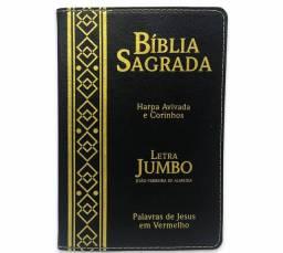 Título do anúncio: Bíblias Letra Jumbo cores Preta ou Lilás. Novas.