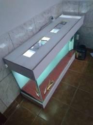 Aquário 325 litros vidro 10 mm 148-55-40