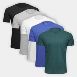 Kit Camiseta Ultimato Básica 5 Peças Masculina