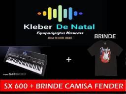 #promoção teclado sx 600 + brinde camisa fender menor preço do brasil