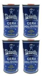 4 Latas De Ceras Polidora Pérola Com Silicone Carnaúba 500ml