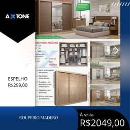 Título do anúncio: Roupeiro madero com detalhe de três weras 209
