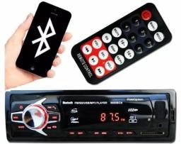 Som automotivo rádio usb Bluetooth completo com controle