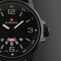 Novo - Relógio Masculino Original Naviforce Marrom